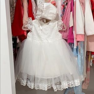 Other - White baptism dress with hat